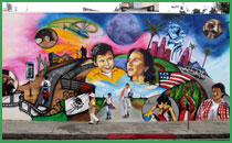 icu art in creative unity community murals la misma luna